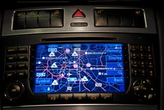 Car navigation, gps. A big car navigation system royalty free stock image
