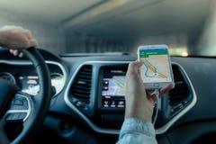 Car navigation Stock Photos
