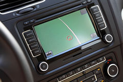 Car navigation multimedia system. Stock Photo
