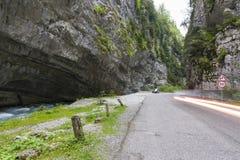 Car near mountain river in Abkhazia Stock Photography