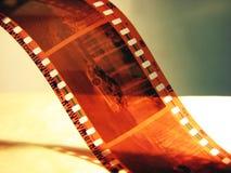 Car negative. Film roll closeup with car negative Stock Image