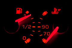 Car neon dashboard gauges Royalty Free Stock Photo
