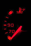 Car neon dashboard gauges Royalty Free Stock Photography
