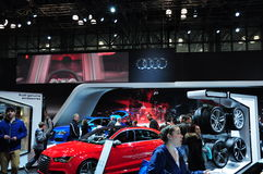 Car in new york auto show 2015 royalty free stock images