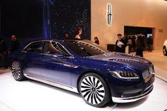 Car in new york auto show 2015 stock photos