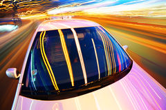 Car in night city Stock Photos