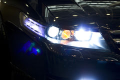 Car night headlight Stock Photography