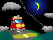 Car on a night nature background Royalty Free Stock Image