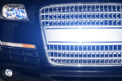 Car night reflections from xenon lights closeup Stock Photo