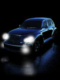 Car on night road Royalty Free Stock Images