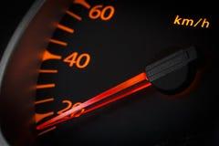Car odometer closeup Stock Photography