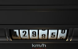 Car Odometer High Stock Images