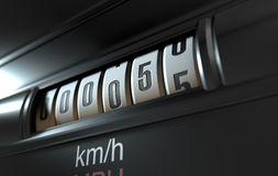 Car Odometer New Royalty Free Stock Photo