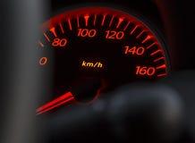 Car odometer night Stock Photo