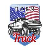 Car off-road 4x4 suv emblem, badge born to Royalty Free Stock Image