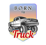 Car off-road 4x4 suv emblem, badge born to. Car classic off-road suv car emblems, badges vector illustration