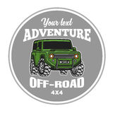 Car off-road 4x4 suv trophy truck logo poster Stock Image