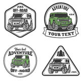 Car off-road 4x4 suv trophy truck logo template set Royalty Free Stock Images