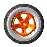 Automotive off road wheel isolated on white. 3D render Stock Images