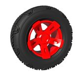Automotive off road wheel isolated on white. 3D render Stock Photos