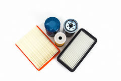 Car oil and air filter.  Auto Parts. Spare parts. Stock Images