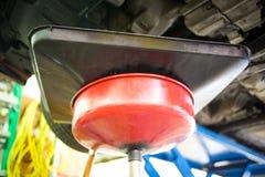 Car oil change service. Inside garage set Royalty Free Stock Photos