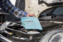 Car Oil check Royalty Free Stock Photography