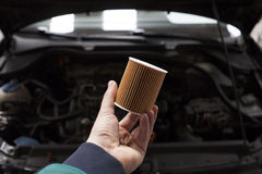 Car oil filter Royalty Free Stock Photo