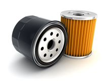 Car Oil filter. Oil filter car (done in 3d Stock Photography