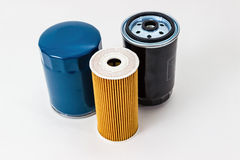 Car oil filter  on a white background isolated.  Auto Parts. Spare parts. Royalty Free Stock Photography