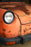 Car - old crock. Detail of an old weaned desolated car royalty free stock photo