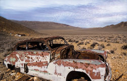Car. Old car in the desert Royalty Free Stock Photo