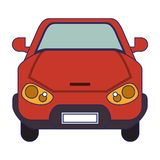 Car old vehicle frontview. Car modern vehicle frontview vector illustration graphic design royalty free illustration