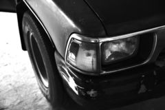 Car old vintage black and white royalty free stock photography