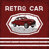 Car old vintage grunge poster Stock Images