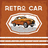 car old vintage grunge poster Royalty Free Stock Photo