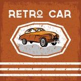 car old vintage grunge poster Royalty Free Stock Photo