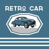 Car old vintage poster royalty free illustration