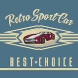 car old vintage poster stock illustration
