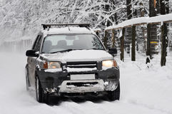 Free Car On Snowy Road In Winter Stock Photos - 37271623