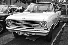 Car Opel Kadett B 2-door Limousine (black and white) Stock Images
