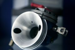 Car open carburetor macro stock photography