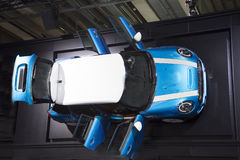 Car with open trunk. From above Royalty Free Stock Photos