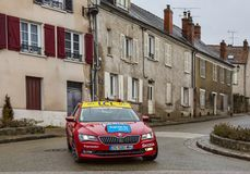 The Car of The Organizers- Paris-Nice 2018 royalty free stock photography