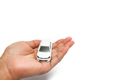 Car in our hand Stock Images