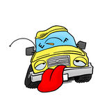 Car out of fuel. Panting Car out of fuel royalty free illustration