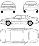 Car Outline Royalty Free Stock Images