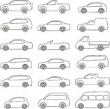 Car outline set Stock Image