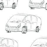 Car outline. Vector illustration. Stock Photos