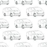 Car outline. Vector illustration. Royalty Free Stock Photos